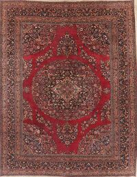 Antique Floral Red Dorokhsh Persian Rug Large 11x14
