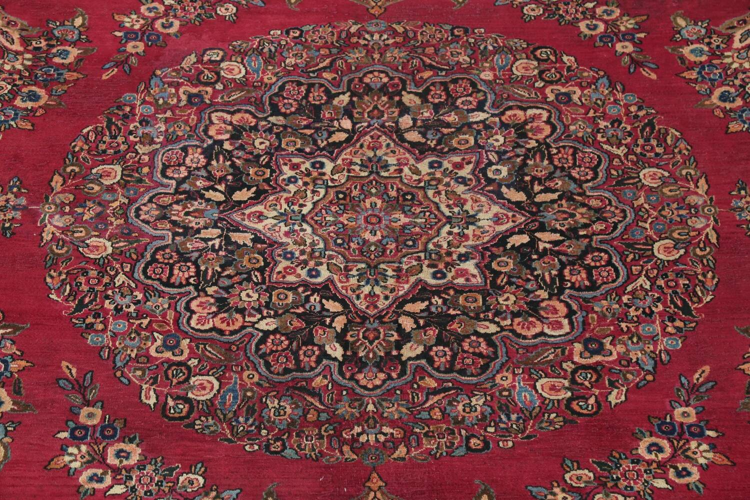 Antique Floral Red Dorokhsh Persian Rug Large 11x14 image 4