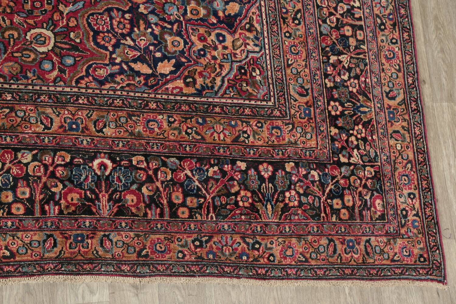 Antique Floral Red Dorokhsh Persian Rug Large 11x14 image 5