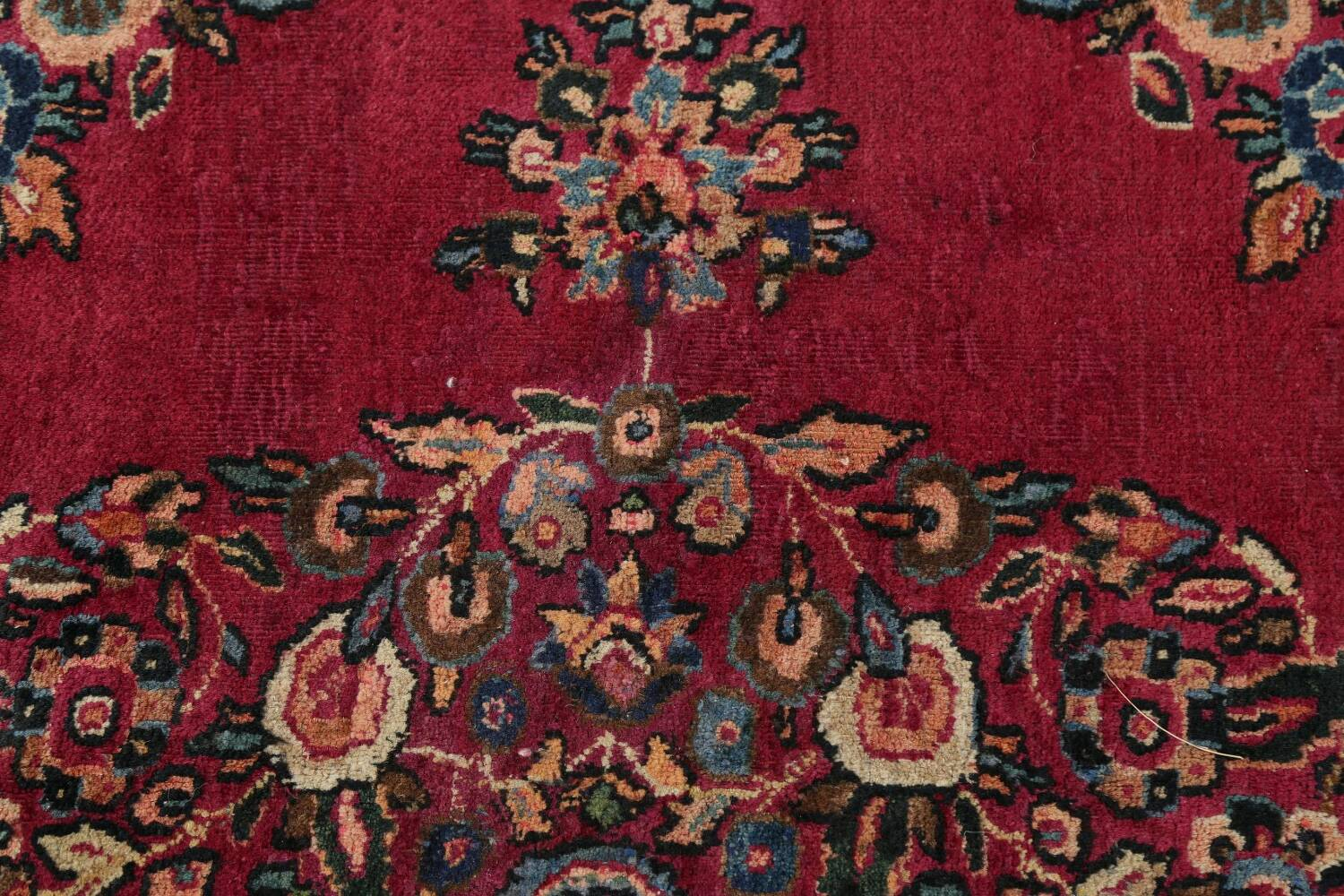Antique Floral Red Dorokhsh Persian Rug Large 11x14 image 11
