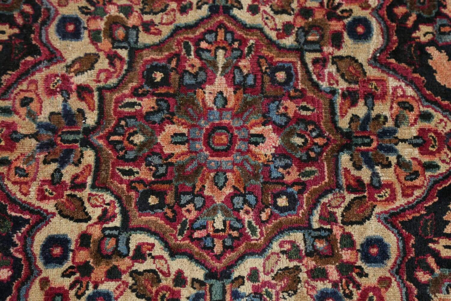 Antique Floral Red Dorokhsh Persian Rug Large 11x14 image 12