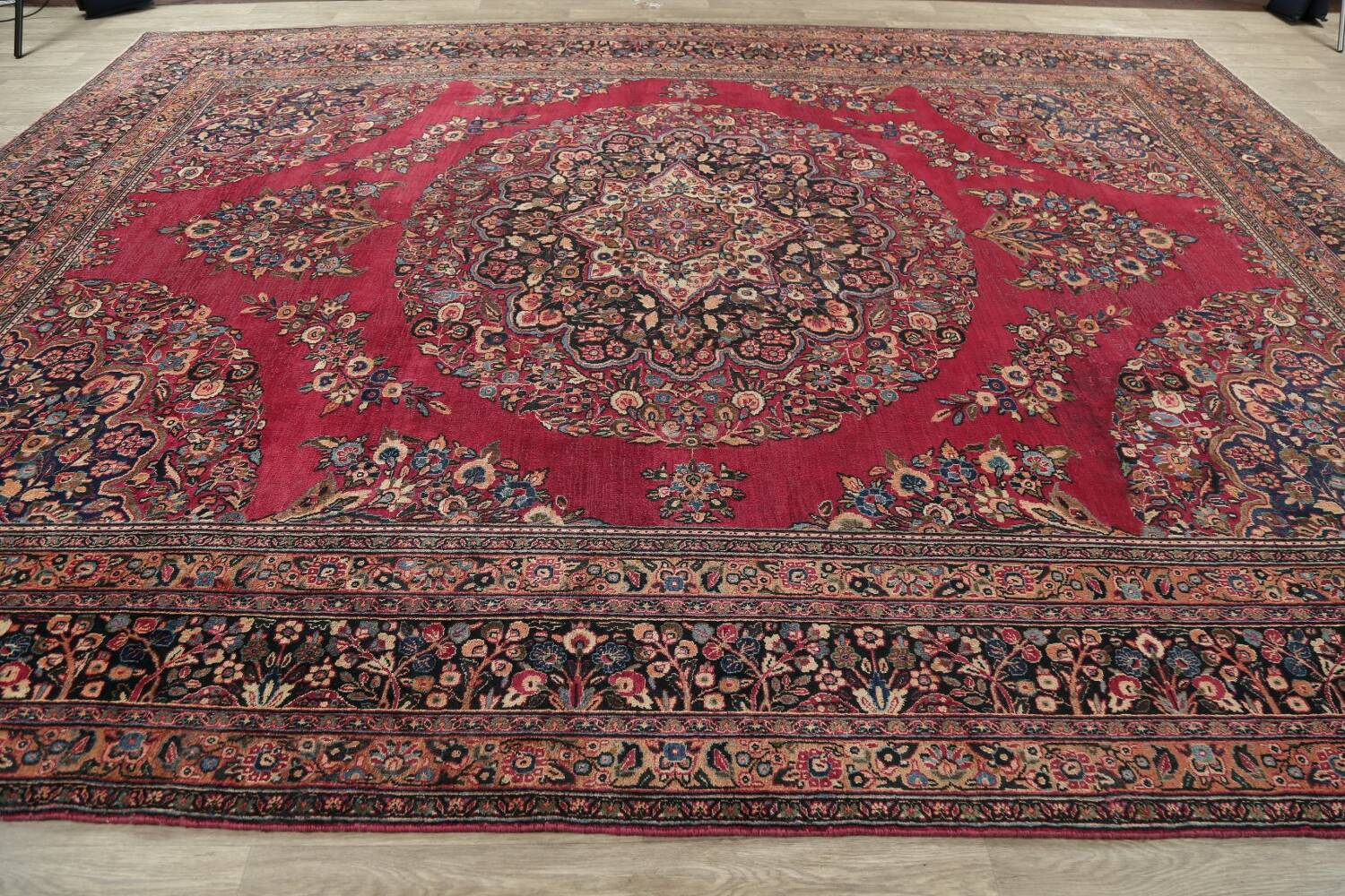 Antique Floral Red Dorokhsh Persian Rug Large 11x14 image 18