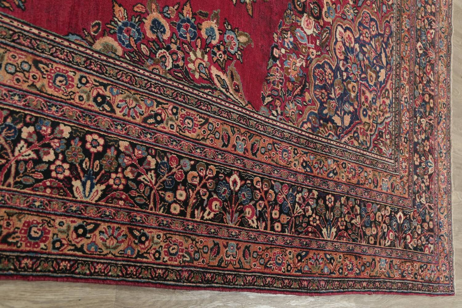 Antique Floral Red Dorokhsh Persian Rug Large 11x14 image 17