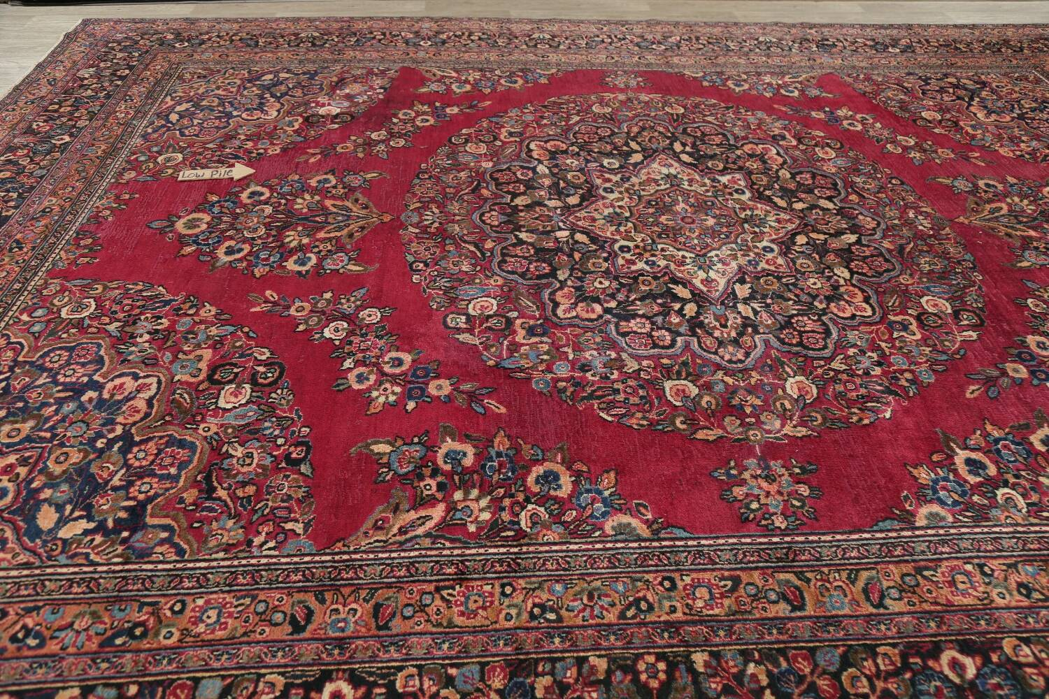 Antique Floral Red Dorokhsh Persian Rug Large 11x14 image 15