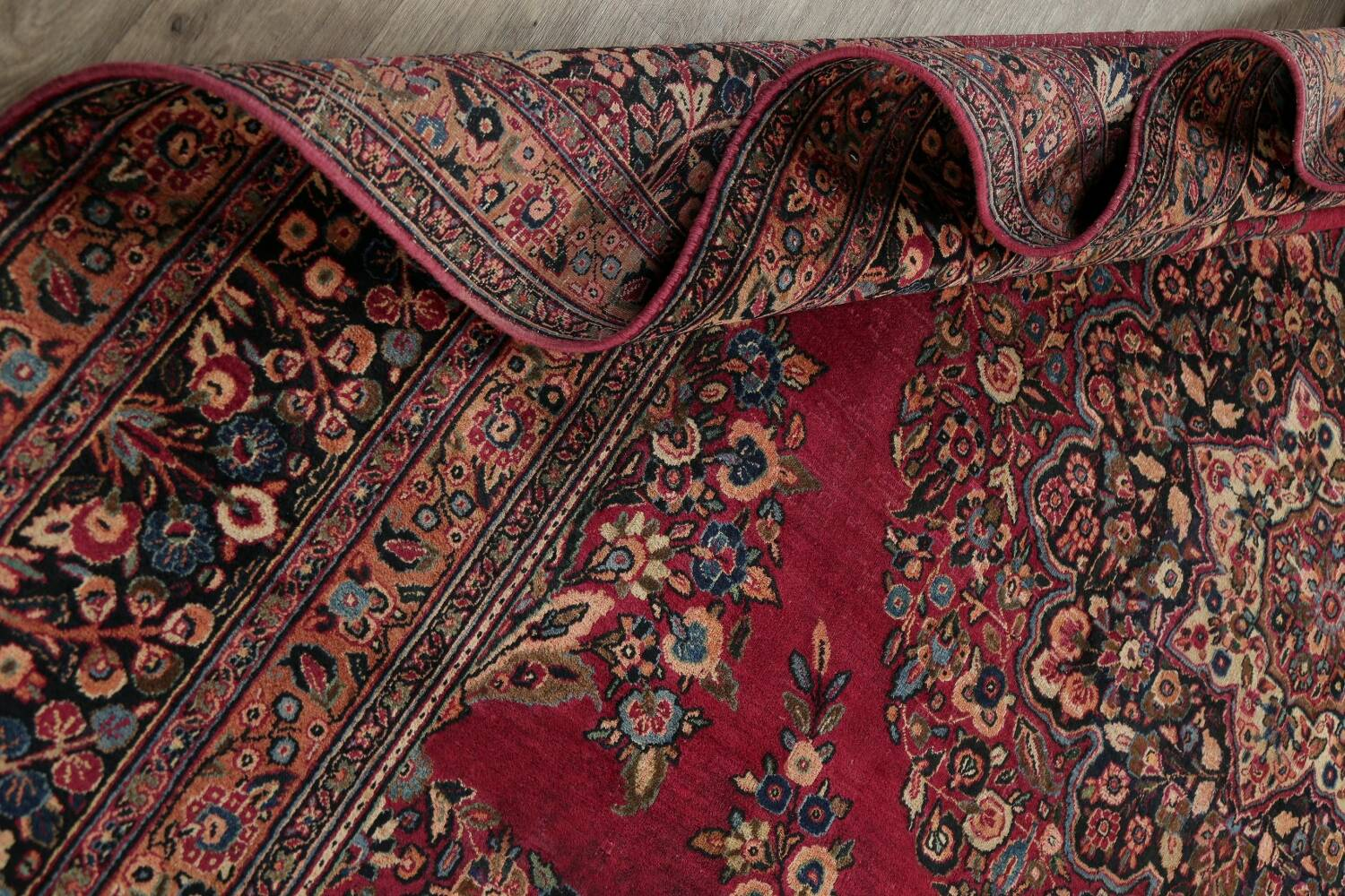 Antique Floral Red Dorokhsh Persian Rug Large 11x14 image 21