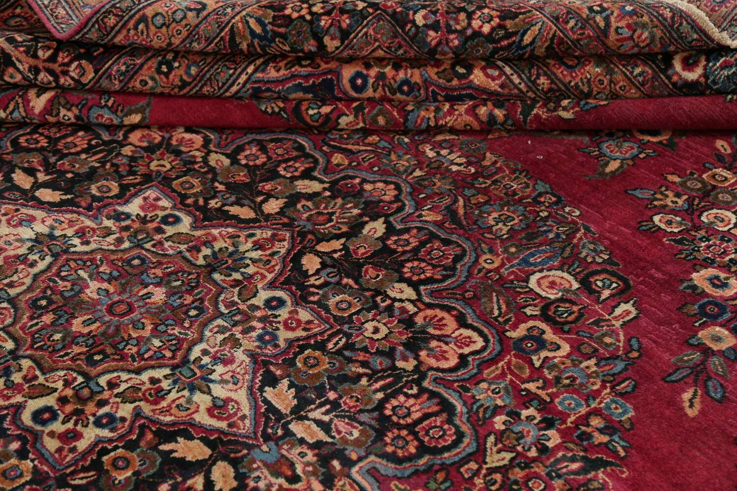 Antique Floral Red Dorokhsh Persian Rug Large 11x14 image 22