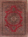 Antique Floral Red Dorokhsh Persian Rug Large 11x14 image 1