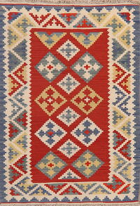 Geometric Kilim Shiraz Persian Area Rug 4x5