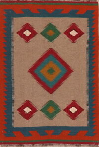 South-Western Kilim Afghan Area Rug 3x5