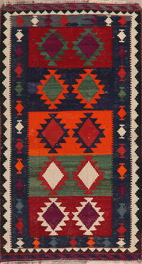 South-Western Kilim Shiraz Persian Area Rug 3x6