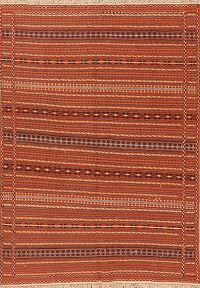 All-Over Stripe Kilim Oriental Area Rug 5x7
