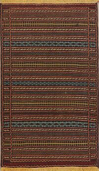 All-Over Tribal Kilim Persian Area Rug 3x5