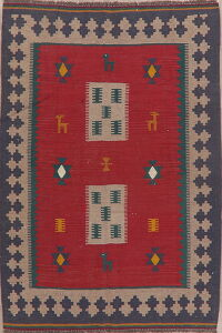 Tribal Geometric Kilim Persian Area Rug 4x6