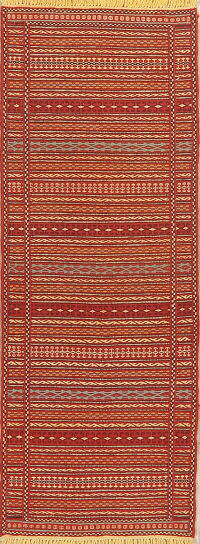 Striped Kilim Turkish Runner Rug 2x6