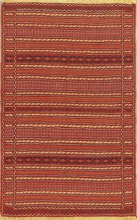 Geometric Kilim Turkish Area Rug 3x5