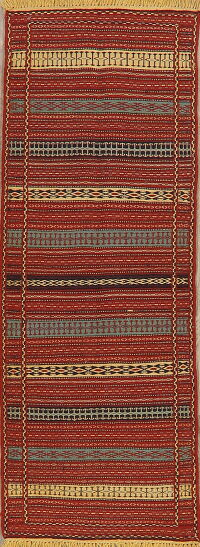 Striped Kilim Turkish Runner Rug 2x7