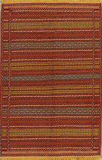 Striped Kilim Turkish Area Rug 3x5
