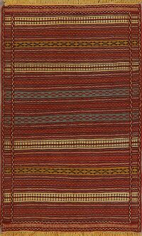 Stripe Kilim Turkish Area Rug 3x5