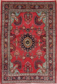Floral Red Lilian Persian Area Rug 7x10