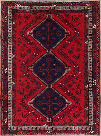 Tribal Geometric Shiraz Persian Area Rug 7x10