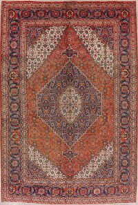 Orange Decorative Ardebil Persian Area Rug 7x10