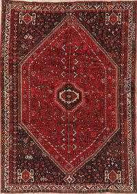 Tribal Geometric Red Shiraz Persian Area Rug 7x10