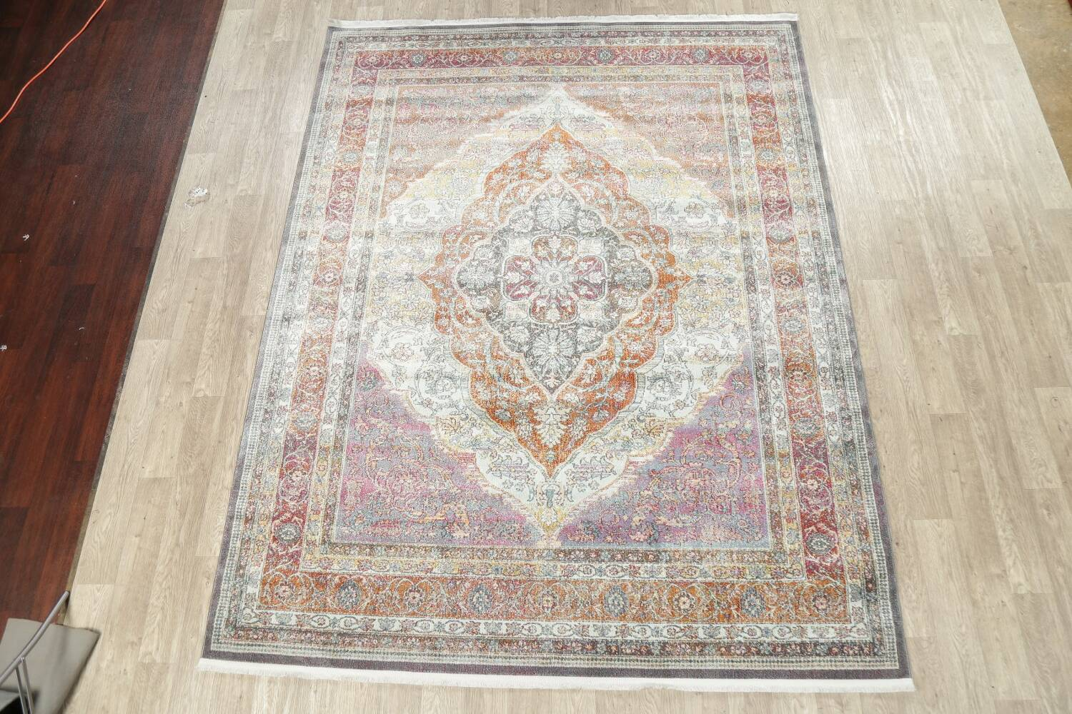 Traditional Floral Distressed Turkish Oriental Rugs image 2