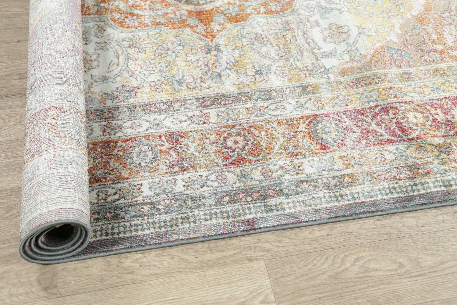 Traditional Floral Distressed Turkish Oriental Rugs image 3
