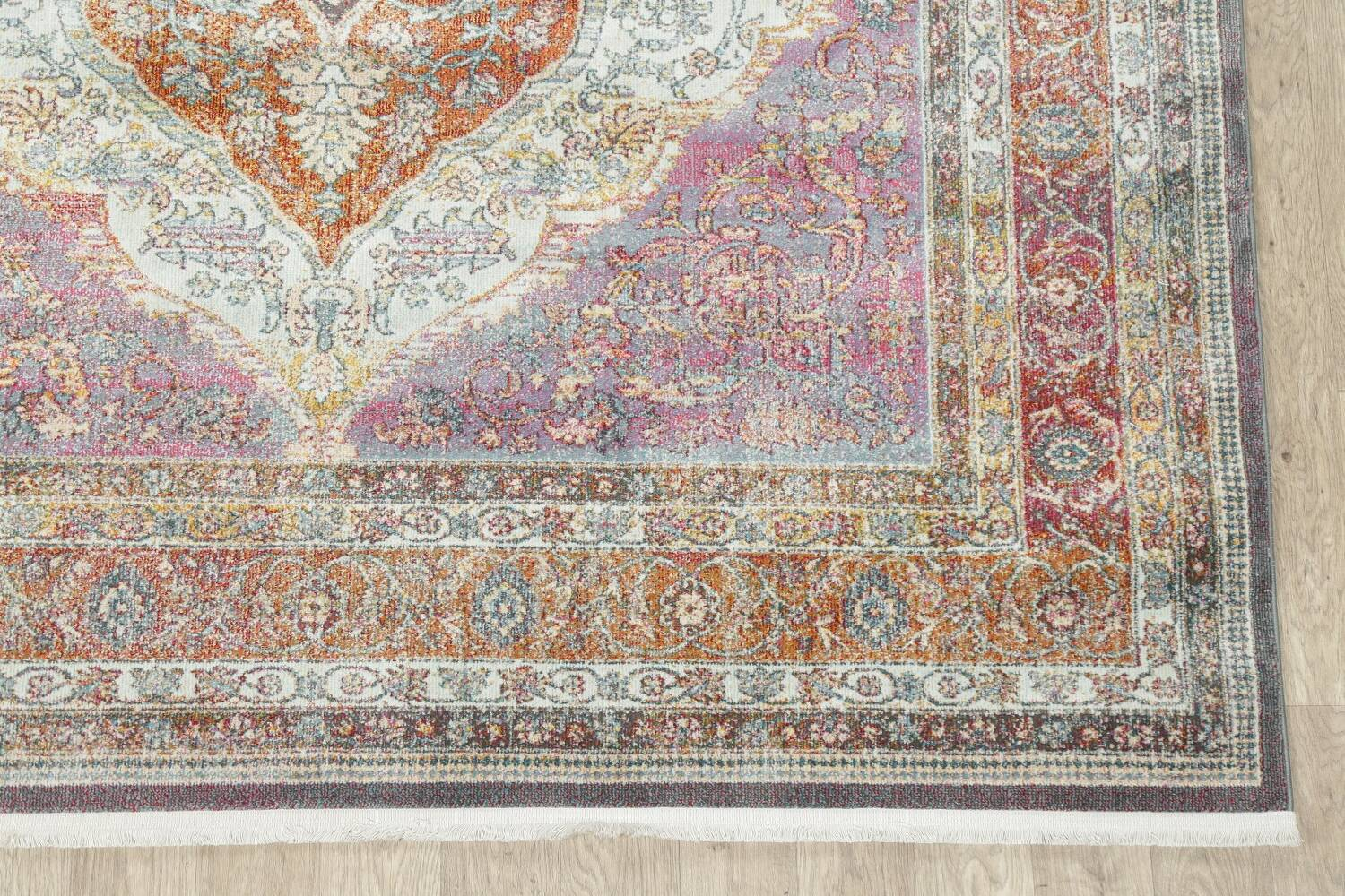Traditional Floral Distressed Turkish Oriental Rugs image 4