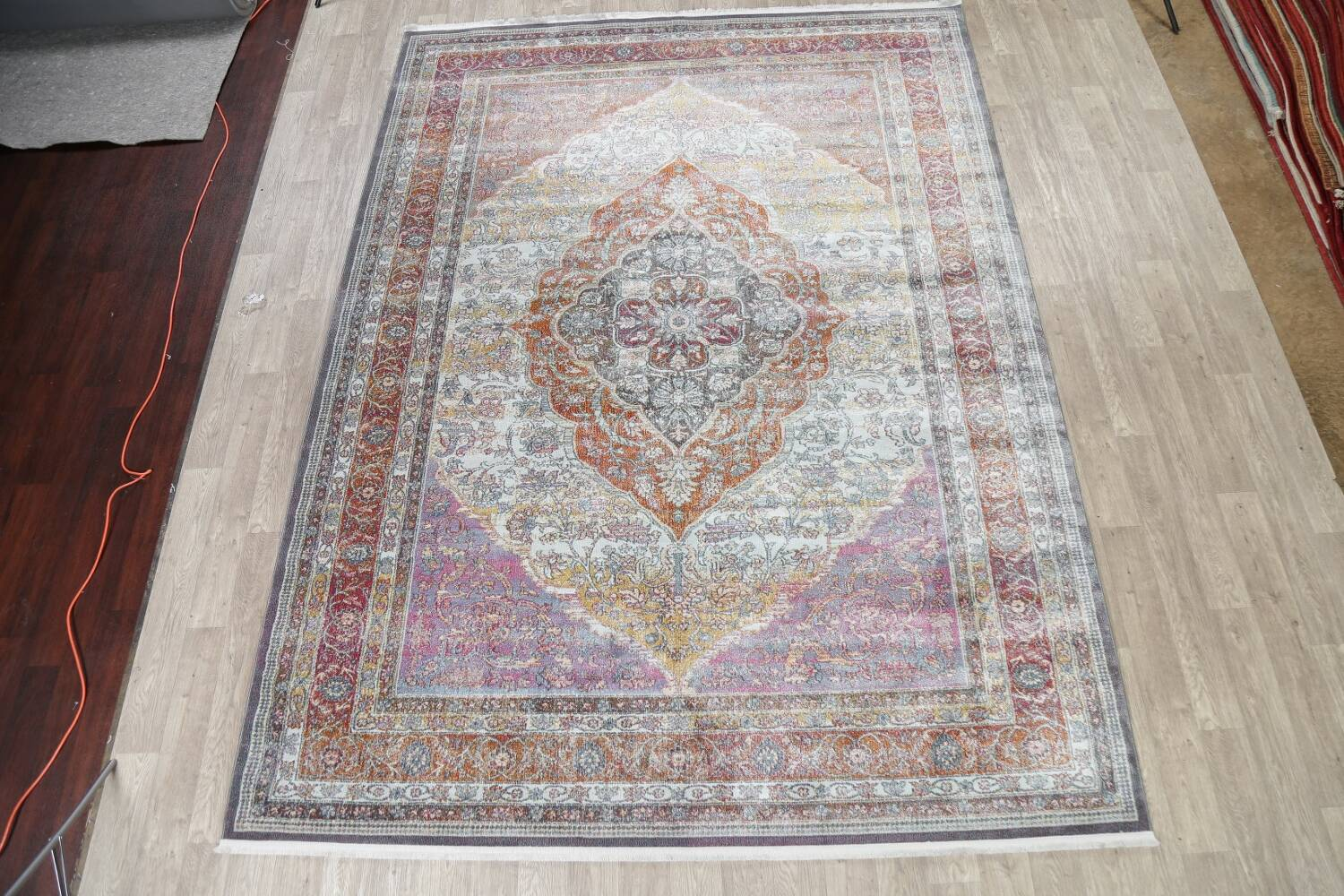 Traditional Floral Distressed Turkish Oriental Rugs image 17