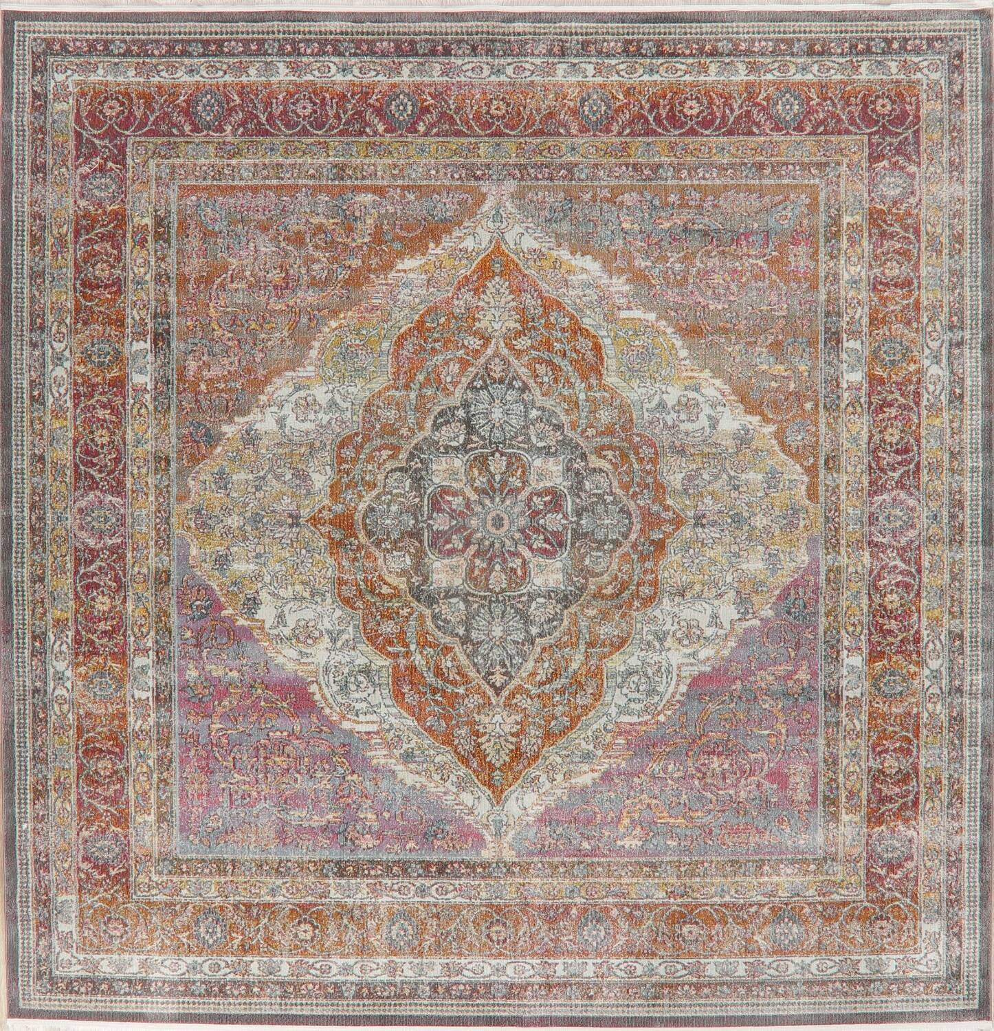 Traditional Floral Distressed Turkish Oriental Rugs image 19