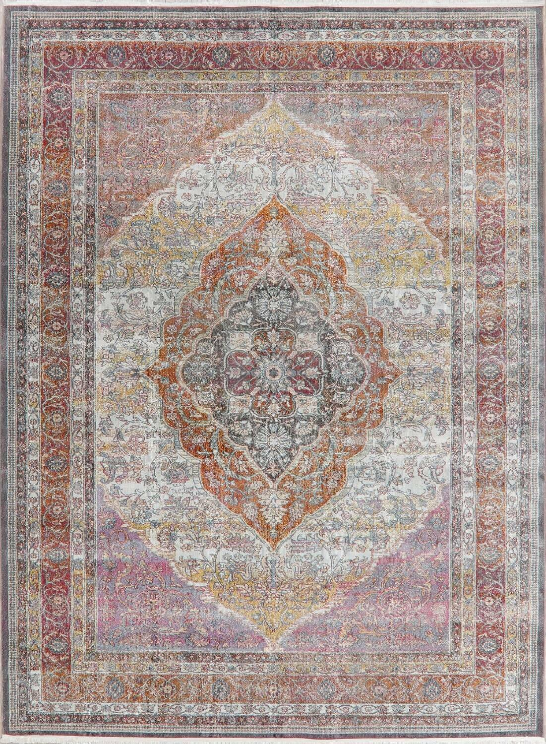 Traditional Floral Distressed Turkish Oriental Rugs image 20