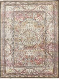 Traditional Geometric Distressed Oriental Rugs