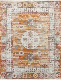 Distressed Geometric Turkish Oriental Rugs