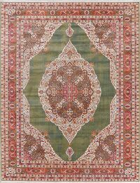 Vintage Style Floral Distressed Heat-set Area Rug