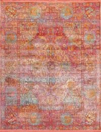 Hunting Design Pictorial Distressed Heat-Set Area Rugs
