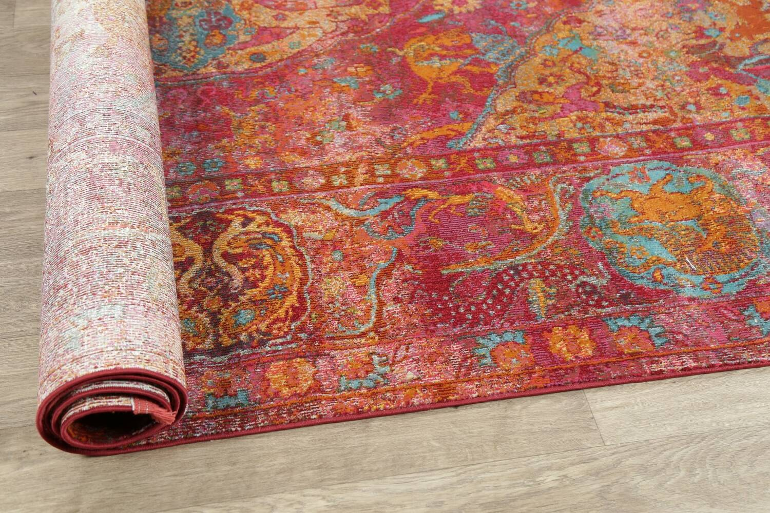 Hunting Design Pictorial Distressed Heat-Set Area Rugs image 5