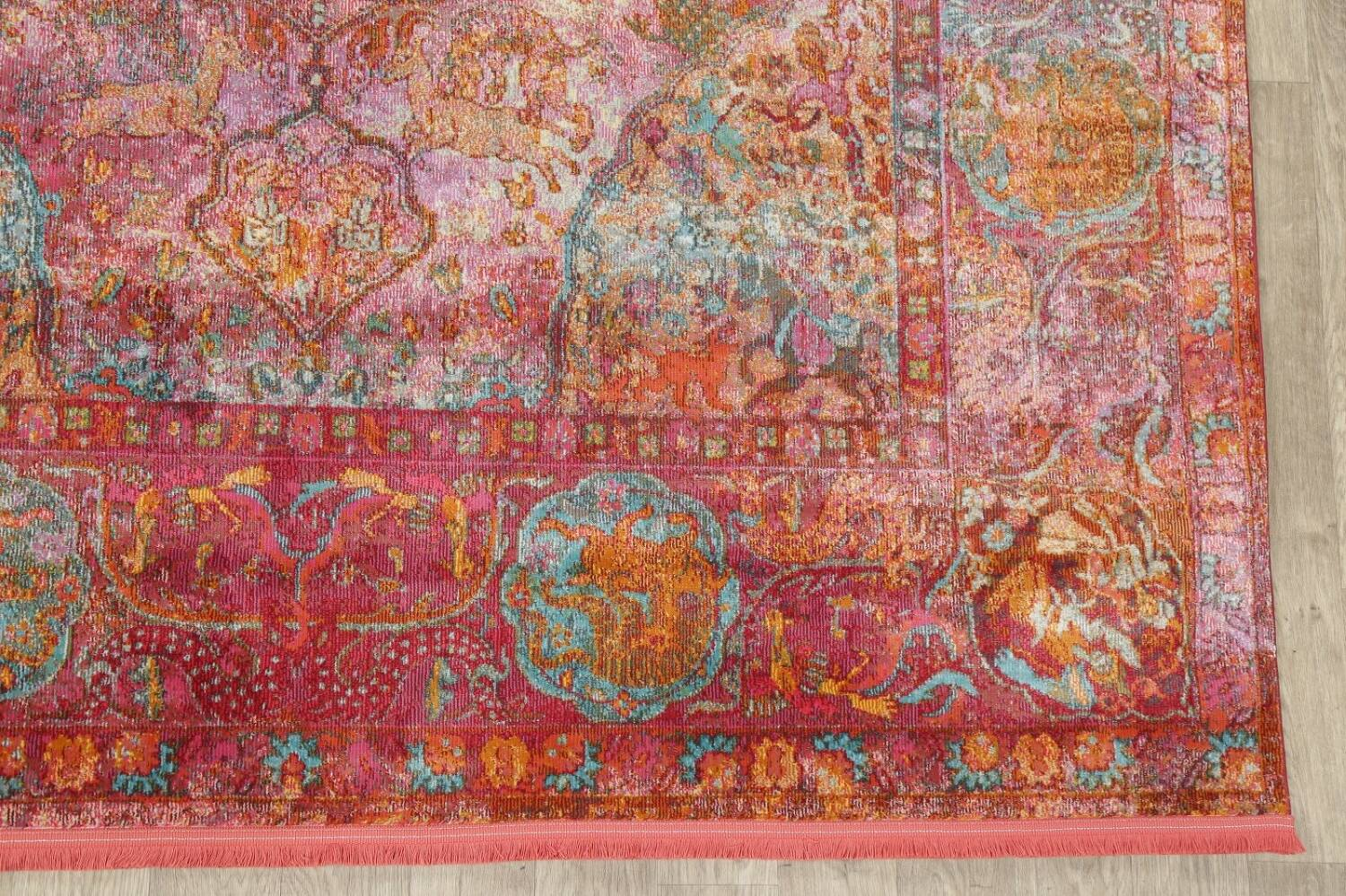 Hunting Design Pictorial Distressed Heat-Set Area Rugs image 3