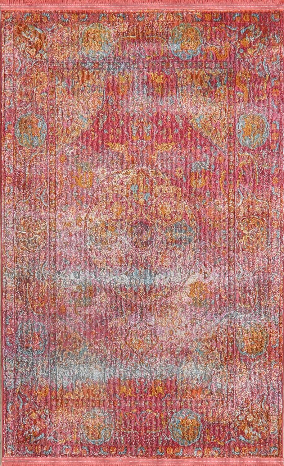 Hunting Design Pictorial Distressed Heat-Set Area Rugs image 9