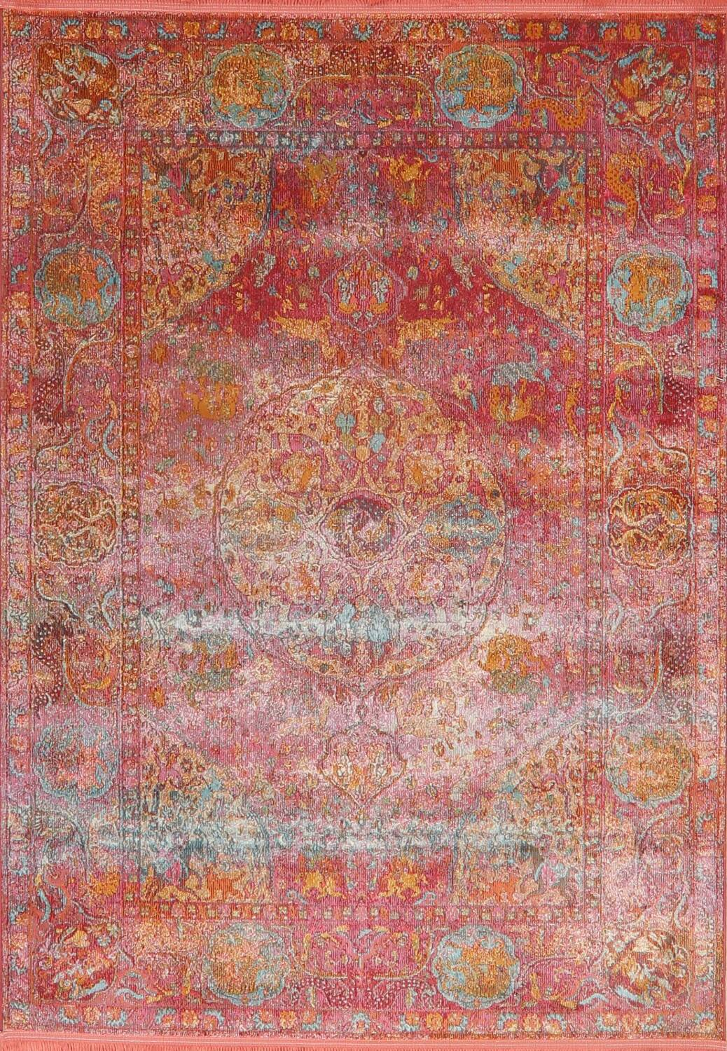 Hunting Design Pictorial Distressed Heat-Set Area Rugs image 11