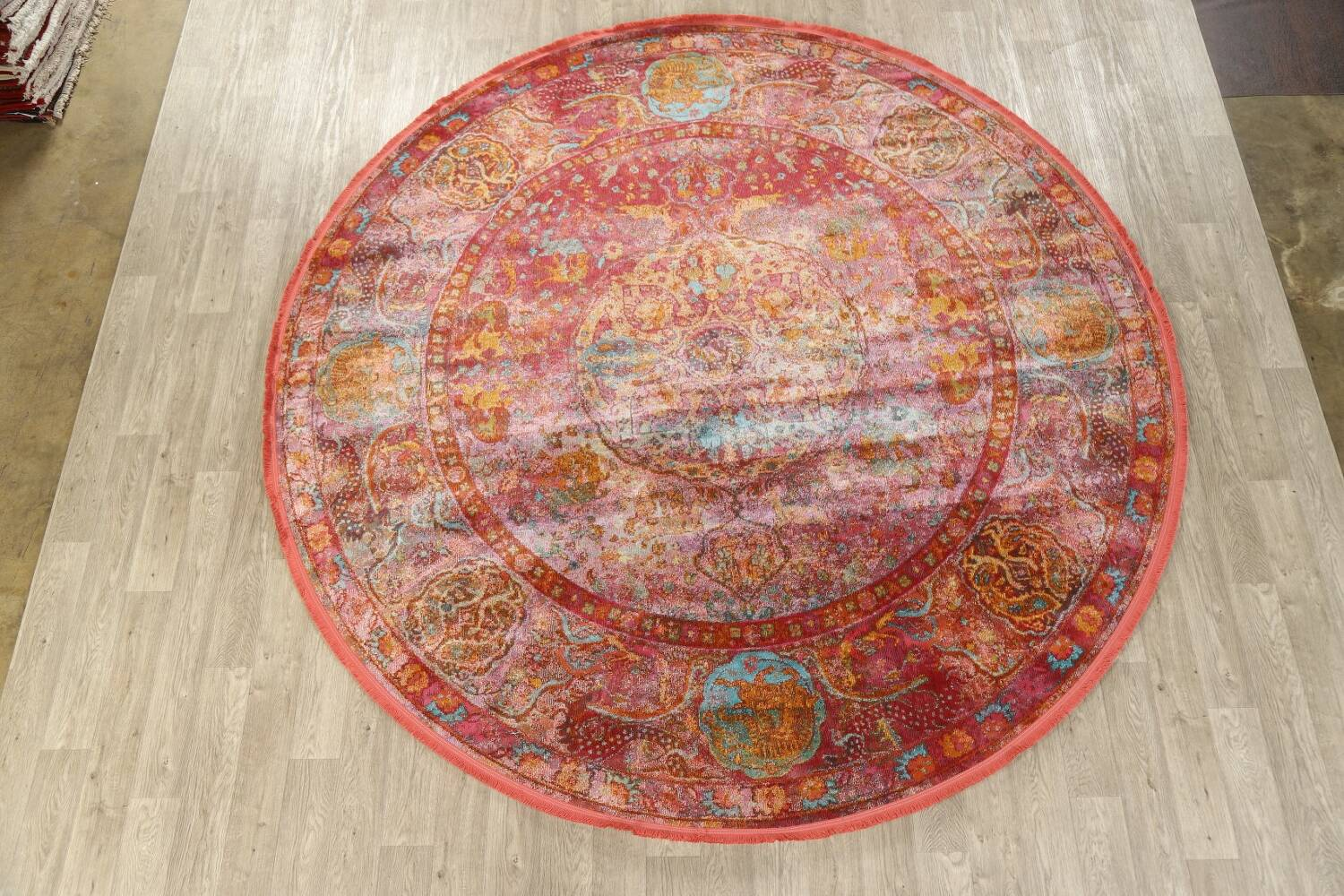 Hunting Design Pictorial Distressed Heat-Set Area Rugs image 14