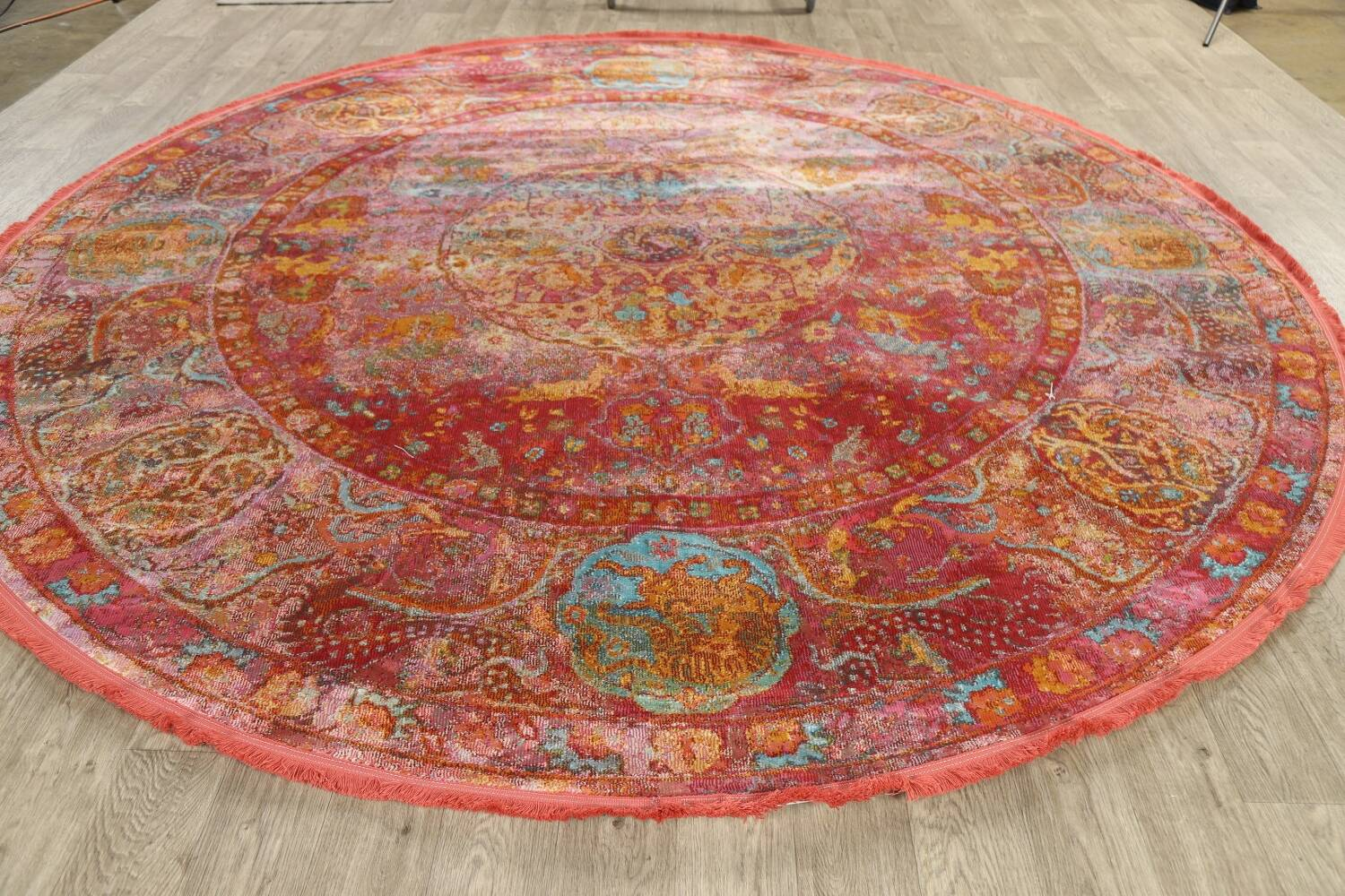 Hunting Design Pictorial Distressed Heat-Set Area Rugs image 18
