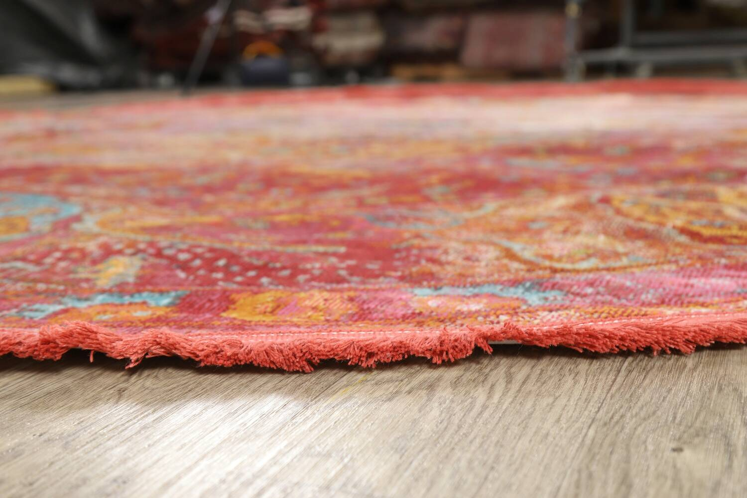 Hunting Design Pictorial Distressed Heat-Set Area Rugs image 23