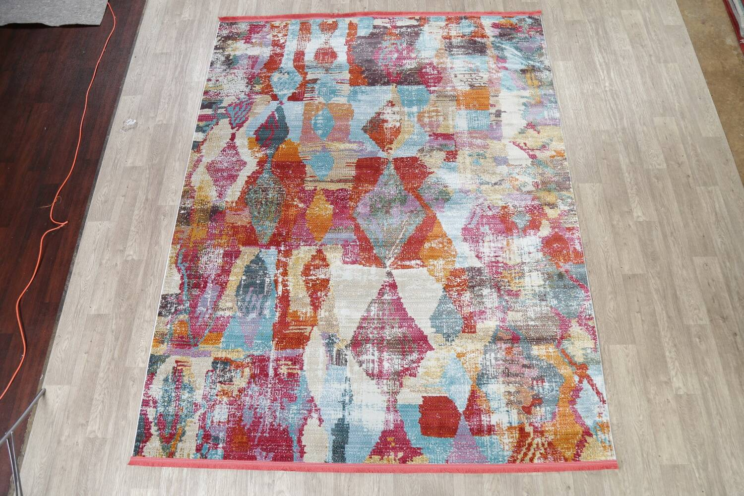 Vintage Style Abstract Distressed Heat-Set Area Rugs image 2