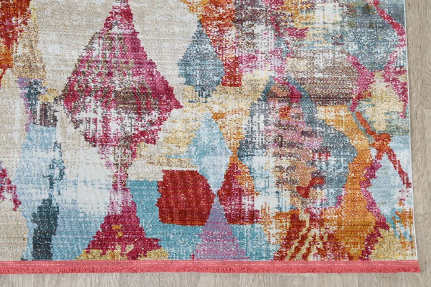 Vintage Style Abstract Distressed Heat-Set Area Rugs image 3