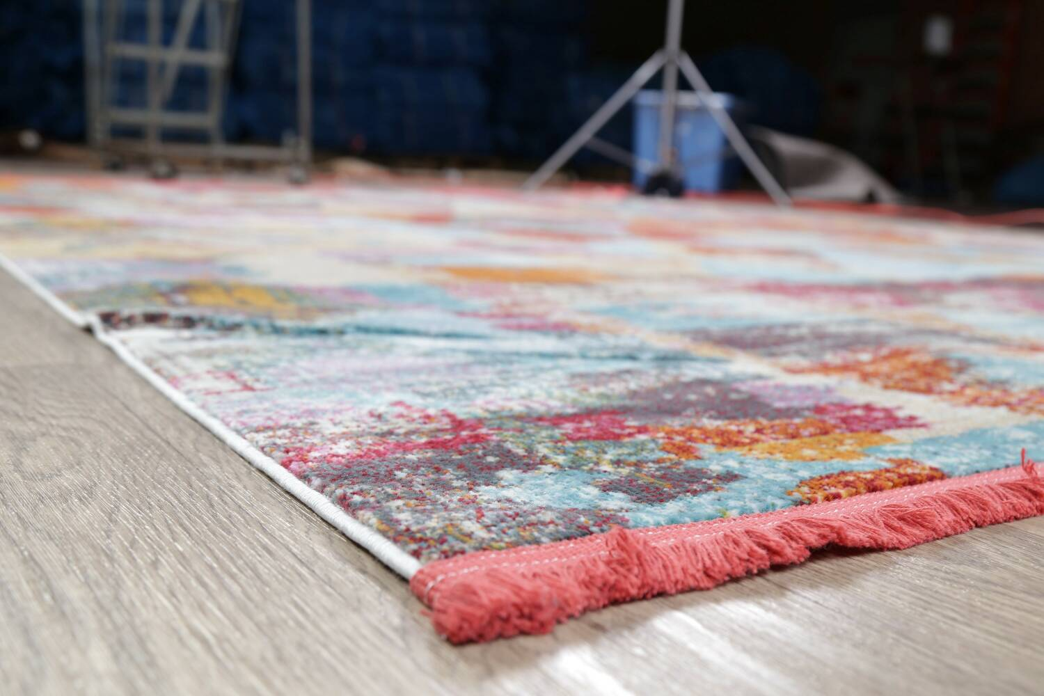 Vintage Style Abstract Distressed Heat-Set Area Rugs image 4