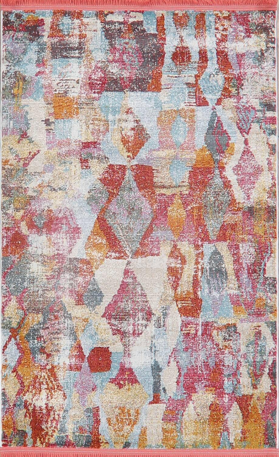 Vintage Style Abstract Distressed Heat-Set Area Rugs image 7