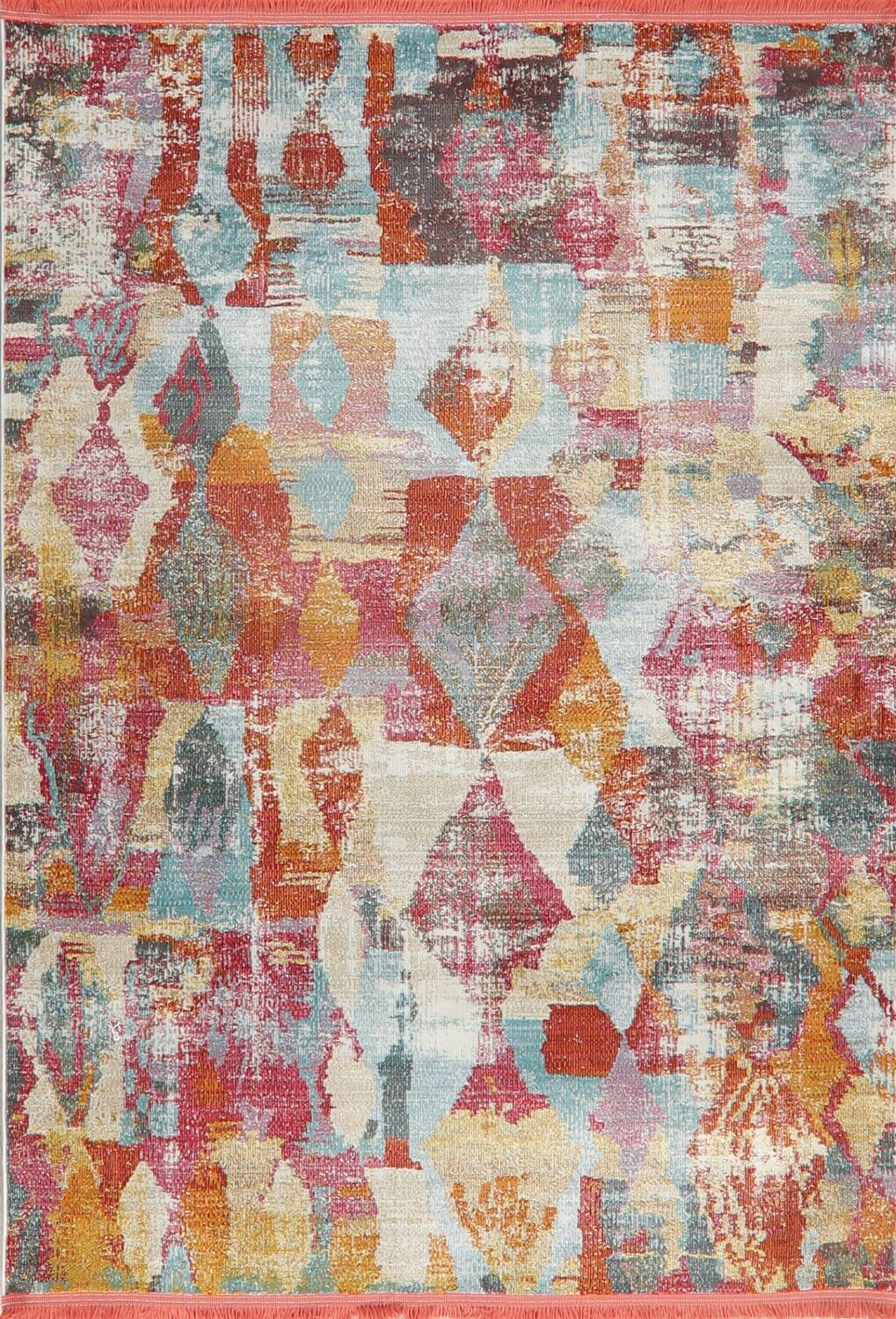 Vintage Style Abstract Distressed Heat-Set Area Rugs image 10