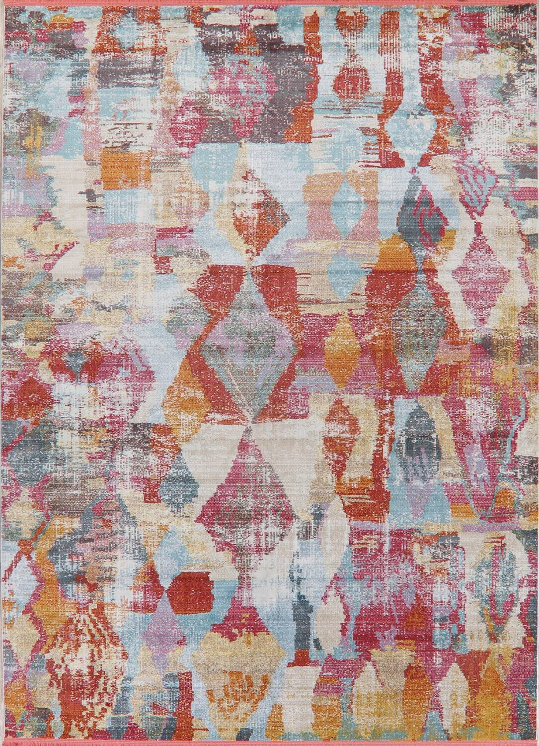 Vintage Style Abstract Distressed Heat-Set Area Rugs image 13
