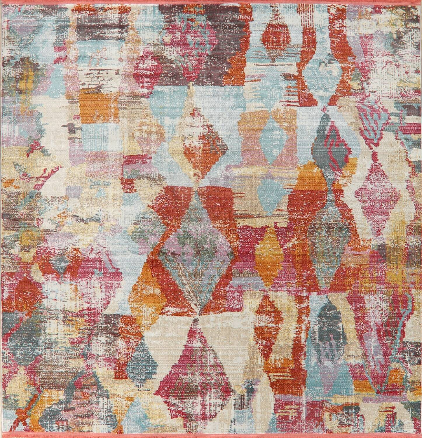 Vintage Style Abstract Distressed Heat-Set Area Rugs image 15